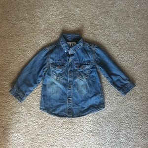 Boy's Jean Button Down Shirt
